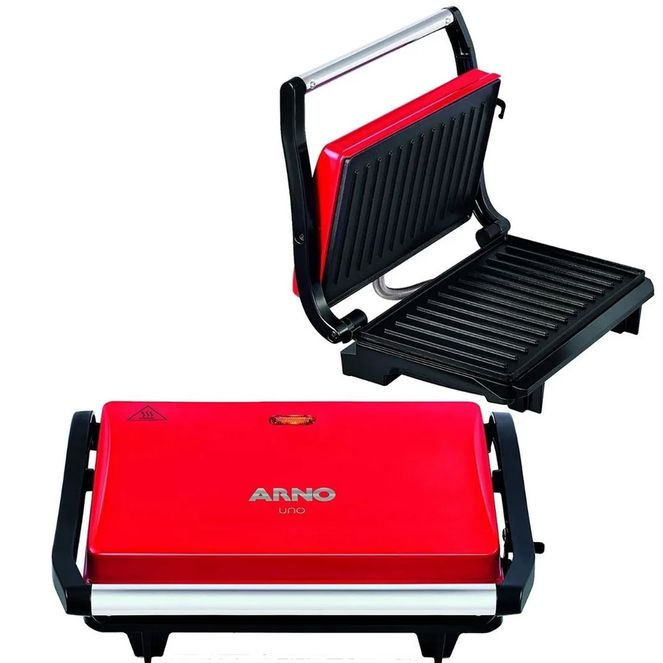Grill-Sanduicheira-Arno-Uno-Press-Inox-760w-Vermelha